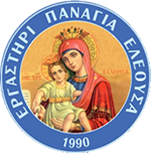 Partner Pangia logo is is a renaissance  style paining of a mother holding a child, in a blue circle logo.