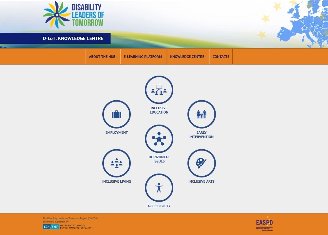 Screenshot of the Knowledge Centre home page